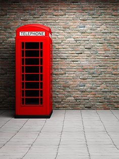 Brick Wall Red Telephone Booth Backdrop for Photo Studio Desktop Background Pictures, Studio Background Images, Background Images For Editing, Photo Background Images, Background For Photography, Photography Backdrops, Photo Backgrounds, Photography Photos, Red Background