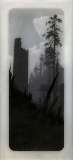 27 looktower Unique Drawings by Brooks Salzwedel | made in layers of resin