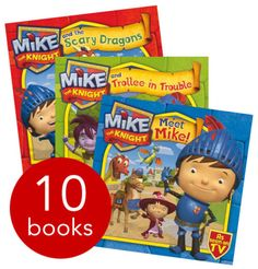 Packed with adventure and excitement, preschoolers' favourite Mike the Knight appears throughout this ten-book collection. Mike The Knight, Dragon Knight, Book Crafts, Book Collection, Christmas Shopping, Children's Books, Scary, Preschool, Party Ideas