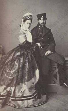 Princess Alice (daughter of Queen Victoria and mother of Empress Alexandra), Grand Duchess of Hesse with her son Ernst Louis, Grand Duke of Hesse Queen Victoria Family, Victoria And Albert, Princess Alice, Prince And Princess, Luis Iv, German Royal Family, Royal Families Of Europe, Alexandra Feodorovna, Historical Clothing