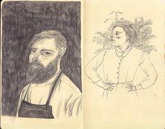 sketchbook portraits/ Lizzy Stewart