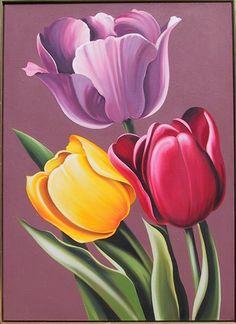 lowell blair nesbitt | Lowell Blair Nesbitt, Tulipa Hybrida, Oil Painting : Lot 218