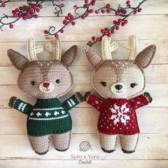 Holiday Deer -free crochet pattern-