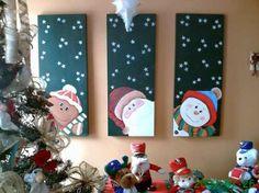 patchwork+sin+aguja+navidad - Buscar con Google Felt Christmas Decorations, Christmas Signs, Christmas Art, Christmas Projects, All Things Christmas, Holiday Crafts, Christmas Ornaments, Holiday Decor, Diy Natal