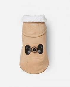 Abrigo de borreguito para perro Bimba beige