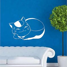 Description: Size: S: W x H ( x ) M: W x H x ) L: W x ( x ) Category: Animals Wall Stickers Material: Vinyl Wall Stickers Room : bedroom, living room, Kids Room Color : White Includes : Cat Wall Stickers Room, Animal Wall Decals, Room Kids, Room Colors, Living Room, Bedroom, Cats, Animals, Home Decor