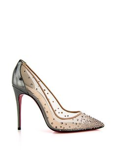 CHRISTIAN LOUBOUTIN Crystal Embellished Strass Follies Pumps