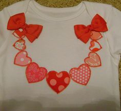 Valentine Heart Necklace Bodysuit by BibsandBurps on Etsy, $20.00