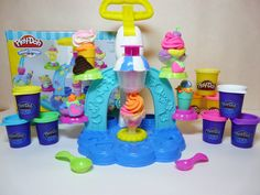 Play Doh Swirl and Scoop Ice Cream Playset Make Your Own Sweets