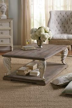 Acanthus Coffee Table - Reclaimed Wood Coffee Table, Elm Coffee Table | Soft Surroundings