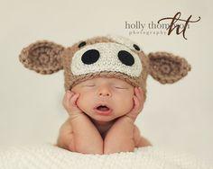 PATTERN  Crochet Baby Cow Hat Pattern for by CherryCreekCrochet
