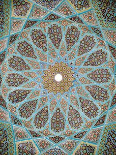 Roof of the tomb of Hafez