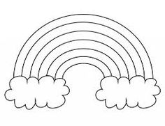 Rainbow - Coloring Pages | Elijah | Pinterest | Rainbows, Template ...