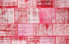 Vintage Patchwork Teppich - mozaiik Unikat Nr. 17TP