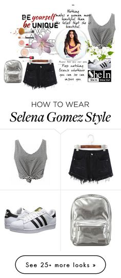 """Shein"" by loveliest-back on Polyvore featuring adidas Originals and Pantone"