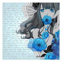 """""""μπλε"""" by freezespell ❤ liked on Polyvore featuring art and sueme"""