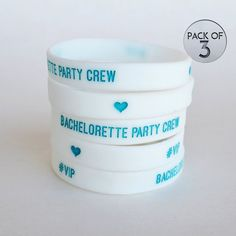 Bachelorette party bracelet teal party favor by KaspiParty on Etsy