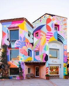 Murals Street Art, Art Mural, Wall Murals, Street Wall Art, Graffiti, Public Art, House Colors, Decoration, Wallpaper