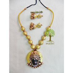 Terracotta Jewellery_Durga_Bright Yellow GoldTerracotta  https://www.facebook.com/maitricrafts.maitri https://www.facebook.com/maitri.crafts maitri_crafts@yahoo.com