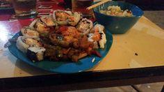 Sushi, arroz Mixto y Salmón