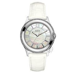 GUESS Crystal Ladies White Leather Strap Μοντέλο: W85116L1 Τιμή: 140€ http://www.oroloi.gr/product_info.php?products_id=26030