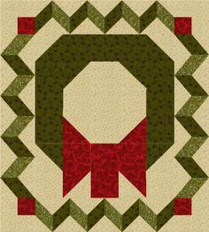 Christmas Wreath Block - Country Junk'tion