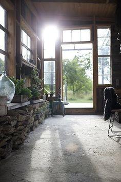 Rustic sun room