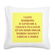 mahjong Square Canvas Pillow