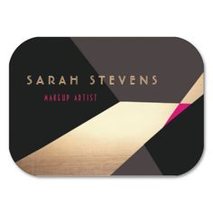 Cool retro abstract black and gold art deco business card gold art cool retro abstract gold makeup artist modern business card colourmoves