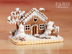 Gingerbread House Christmas / Winter Scene - Gingerbread Trees - (MADE TO ORDER) 12th Scale Miniature Food