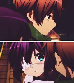 #Chunibyo | #Rikka | #Yuuta Me Me Me Anime, Anime Love, Koi, Rikka And Yuuta, Manga Anime, Anime Art, Kyoto Animation, Best Waifu, Noragami