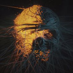This is more a walkthrough of an image I made. I& using XParticles and also the Hair module to create this stylized skull render. The whole thing took… Cinema 4d Tutorial, 3d Tutorial, Cg Artwork, Graphic Artwork, Cinema 4d Render, 3d Poster, V Ray Materials, Maxon Cinema 4d, Cinema Cinema