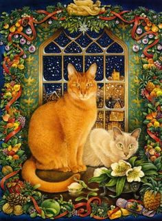 Lesley Anne Ivory British) - The Great Cat I Love Cats, Cool Cats, Animal Gato, Image Chat, Gatos Cats, Decoupage Vintage, Here Kitty Kitty, Cat Drawing, Christmas Cats