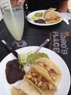 Lobster tacos at Toro's