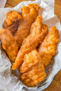 Beer Battered Fish made with fresh cod filets dipped in seasoned beer batter and fried until golden brown and crispy, EASY to make and ready in only a few minutes! Cod Fish Recipes, Fried Fish Recipes, Seafood Recipes, Cooking Recipes, Best Fried Fish Recipe, Healthy Recipes, Walleye Recipes, Seafood Dishes, Easy Cooking