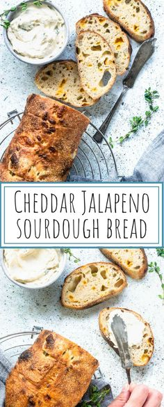 Cheddar Jalapeno Sourdough Bread with Roasted Garlic Spread. Delicious and beyond! Cheddar Jalapeno Sourdough Bread with Roasted Garlic Spread. Delicious and beyond! Sourdough Recipes, Sourdough Bread, Yeast Bread, Quick Bread, How To Make Bread, Beef Recipes, Baking Recipes, Easy Recipes, Appetizer Recipes