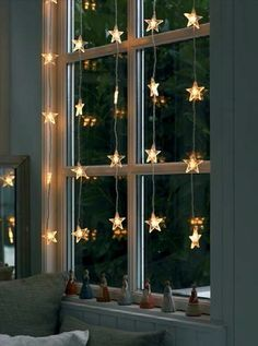 Star Light in the Window.. on window side of sheer curtains