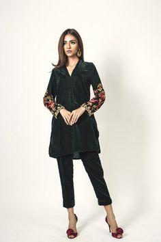 Expensive Women S Fashion Brands Black Pakistani Dress, Pakistani Fashion Casual, Fashion Night, Winter Fashion, Latest Suit Design, Black Velvet Shorts, Velvet Dress Designs, Eastern Dresses, Leotard Fashion