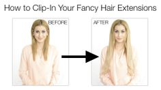 Want to know how to clip-in Fancy Hair extensions in minutes? Watch the tutorial here: http://www.youtu.be/EJ8boyC6r1o <3 #hairstylesforwomen #classic #braid #braided #bun #updo #hairstyle #hairstyles #long #thick #beautiful #style #beauty #fashion #celebrity #hollywood #glamorous #luxury #wavy #waves #curly #curls #straight #ponytail #elegant #bride #bridal #wedding #inspiration #ideas #engaged #engagement #boho #bohemian #diy #prom #fancy #hair #clipin #extensions