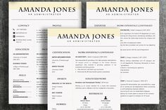 Professional resume templates with creative, custom designs. Free cover letter template and references page also included in word and pdf format. Free fonts and Free Cover Letter, Cover Letter Template, Cv Template, Letter Templates, Resume Templates, Design Templates, Resume Cv, Resume Design, Resume Tips