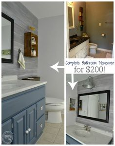 Marvelous Complete Bathroom Makeover For $200 | Budget Bathroom Remodel | Vintage  Rustic Industrial Bathroom | Modern