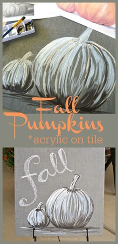 Fall Pumpkins - Acry