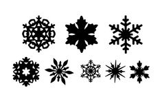 Winter Snowflakes Decal For Window Or Wall by DessicaDupin on Etsy