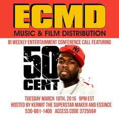 You are invited! Tues 9pm ET #50Cent and #GUnit on the #ECMD Music & Entertainment conference call www.CodaGrooves.com