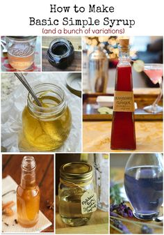 Learn the recipe for a basic simple syrup to sweeten all sorts of drinks and cocktails. Also includes variations such as honey and maple simple syrup. Alcoholic Drinks, Beverages, Cocktails, Make Simple Syrup, Cocktail Mixers, Food Dye, Yummy Drinks, Homemade Gifts, Tasty