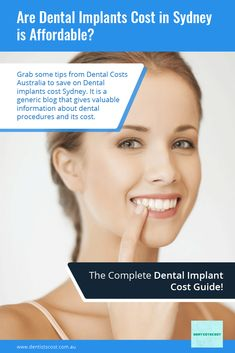 Grab some tips from Dental Costs Australia to save on #Dental_implants_cost_Sydney. It is a generic blog that gives valuable information about dental procedures and its cost. Wisdom Teeth Removal Cost, Dental Costs, Dental Check Up, Affordable Dental, Dental Procedures, Oral Surgery, Dental Services, Dental Insurance