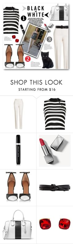 """My Fashion Identity"" by pomy22 ❤ liked on Polyvore featuring Jil Sander, Marc Jacobs, Bouchra Jarrar, Burberry, Givenchy, Isabel Marant, MICHAEL Michael Kors, stripes, blackandwhite and myfashionidentity"