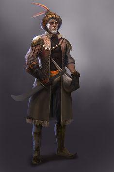 character concept Human Fighter male oriental elder by Viktor Fetsch