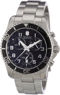 Under (add your price ranges) Victorinox Swiss Army Men's 241432 Maverick GS Black Chronograph Dial Watch