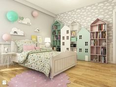 Dom w Opolu - Duży pokój dziecka dla dziewczynki dla malucha, styl skandynawski - zdjęcie od WERDHOME